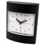 Zegar z budzikiem czarny, materiał tworzywo, kolor czarny 03011