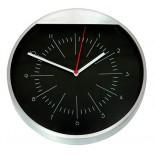 Zegar ścienny metalowy, materiał metal, kolor srebrny 03018