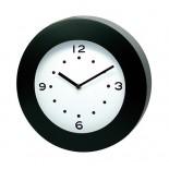 Zegar ścienny czarny, materiał tworzywo, kolor czarny 03044