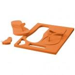 Klapki plażowe Pomaranczowy 10024301