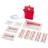 Zestaw pierwszej pomocy 11-sto elementowy Czerwony 10211300