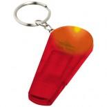 Brelok z gwizdkiem i latarką Spica Czerwony przezroczysty 10417902