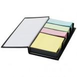 Zestaw notesików z karteczkami samoprzylepnymi Mestral czarny 10618500