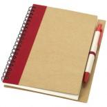 Notes z długopisem Priestly Czerwony 10626800