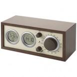 Klasyczne radio ze wskaźnikiem temperatury Brazowy 10801100