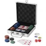 Zestaw do gry w pokera Srebrny 11000300