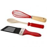 Zestaw przyrządów kuchennych 3 części Czerwony 11262900