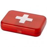 Pudełko na leki Isabelle Czerwony,bialy 12605300