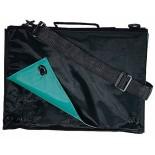 Torba konferencyjna LUIS zielono-czarna, materiał nylon 70d, kolor zielony 14302-05