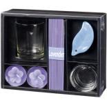 Zestaw zapachowy lawendowy, materiał szkło, ceramika, kolor fioletowy 14509