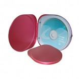 Etui na 6 CD czerwone, materiał aluminium, kolor czerwony 17321-04