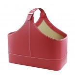 Gazetownik czerwony, materiał ekoskóra, kolor czerwony 17502-04