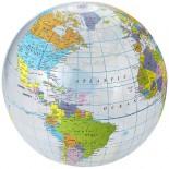 Piłka plażowa globus przezroczysty 19538615