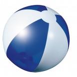Piłka plażowa niebieska przezroczysta, materiał pvc, kolor niebieski 20086-03