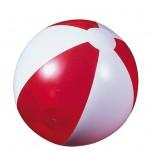 Piłka plażowa czerwona przezroczysta, materiał pvc, kolor czerwony 20086-04