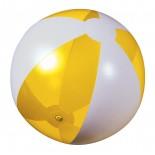 Piłka plażowa żółta przezroczysta, materiał pvc, kolor żółty 20086-12