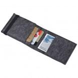 Etui na karty kredytowe z gumką, kolor szary 2834207
