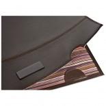 Elegancka teczka na dokumenty, kolor brązowy 2848001