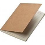 Notes A6 z okładką z papieru z recyklingu, kolor brązowy 2850701