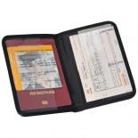 Portfel podróżny na dokumenty, kolor czarny 2859703