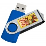 Pendrive z metalu i plastiku 2GB, kolor niebieski 28726D04 2GB