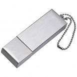 Pendrive z metalu 16GB, kolor szary 2873007