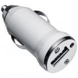 Ładowarka samochodowa z wejściem USB, kolor biały 2886306