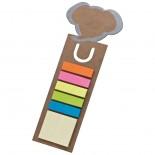 Zakładka do książek z karteczkami samoprzylepnymi, kolor brązowy 2886401