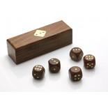 Kości, materiał drewno sheesham, kolor brązowy 31002