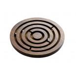 Gra labirynt, materiał drewno sheesham, kolor brązowy 31003