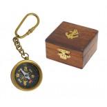 Brelok kompas, materiał mosiądz , kolor żółty 31020