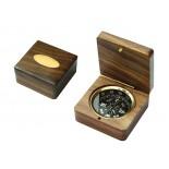 Kompas w pudełku, materiał drewno sheesham, kolor brązowy 31036