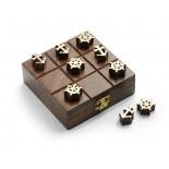 Kółko i krzyżyk żeglarskie, materiał drewno sheesham, mosiądz, kolor brązowy 31054