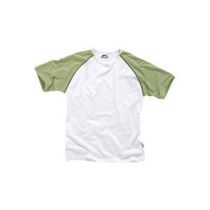 T-shirt Raglan, kolor bialy, trawiasty, granatowy, rozmiar XL