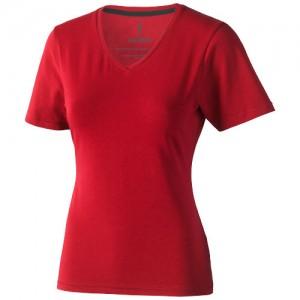 T-shirt Kawartha V-neck damski Czerwony 38017252