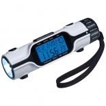 Zegar LED z budzikiem i datownikiem, kolor biały 3872006