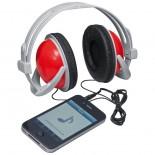 Duże słuchawki, kolor czerwony 3882105