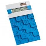 Kalkulator z gumową klawiaturą, kolor niebieski 3886204