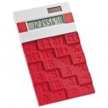 Kalkulator z gumową klawiaturą, kolor czerwony 3886205