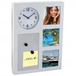 Zegar ścienny 3 w 1, kolor szary 4277007