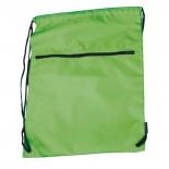 Nylonowy worek sportowy, kolor zielony 6237109
