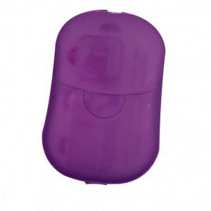 Mydełka podróżne - 25 listków, kolor fioletowy 6301612