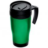 Plastikowy kubek termiczny o pojemności 0,4 l, kolor zielony 6561009