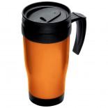 Plastikowy kubek termiczny o pojemności 0,4 l, kolor pomarańczowy 6561010