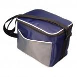 Nylonowa torba - lodówka z praktycznym uchwytem, zapinana na zamek, kolor granatowy 6710544