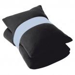 Koc polarowy z poduszką, kolor czarny 6752503
