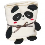 Koc dla dzieci z motywem pandy, kolor beżowy 6890113
