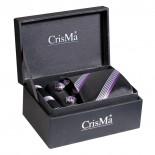 CrisMa Krawat, kolor fioletowy 7029512
