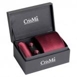 CrisMa Krawat, kolor bordowy 7029702