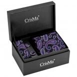 CrisMa Krawat, kolor czarny 7794703